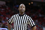 18 February 2017: Referee Sean Hull. The North Carolina State University Wolfpack hosted the University of Notre Dame Fighting Irish at the PNC Arena in Raleigh, North Carolina in a 2016-17 Division I Men's Basketball game. Notre Dame won the game 81-72.