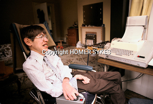 stephen hawking 1981 archive stock photos photography cambridge england homer sykes. Black Bedroom Furniture Sets. Home Design Ideas