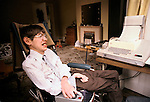 STEPHEN HAWKING AT HOME CAMBRIDGE. 1981