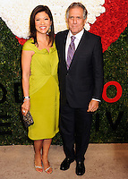 NEW YORK CITY, NY, USA - OCTOBER 16: Julie Chen, Leslie Moonves arrive at the God's Love We Deliver, Golden Heart Awards held at Spring Studios on October 16, 2014 in New York City, New York, United States. (Photo by Celebrity Monitor)