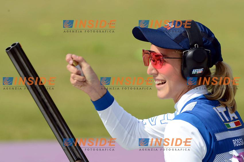 Jessica Rossi Italy Gold Medal Women's shooting.London 4/8/2012 Royal Artillery Basrracks.London 2012 Olympic games - Olimpiadi Londra 2012.Shooting - Tiro / Trap.Foto Imago/Insidefoto.ITALY ONLY