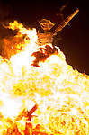 Aug. 30 2008 - Black Rock City, Nevada, USA - A fireball engulfs the Man during the burn, Saturday night, Aug. 30, 2008, during the Burning Man arts and culture festival in Black Rock City in the Black Rock Desert near Gerlach, Nev. (Credit Image: © David Calvert/ZUMA Press