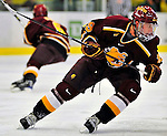 2 January 2009: Ferris State Bulldogs' right wing forward Corey Couturier, a Senior from Traverse City, MI, in action against the St. Lawrence Saints during the first game of the 2009 Catamount Cup Ice Hockey Tournament hosted by the University of Vermont at Gutterson Fieldhouse in Burlington, Vermont. The Saints defeated the Bulldogs 5-4 to move onto the championship game against the University of Vermont Catamounts...Mandatory Photo Credit: Ed Wolfstein Photo