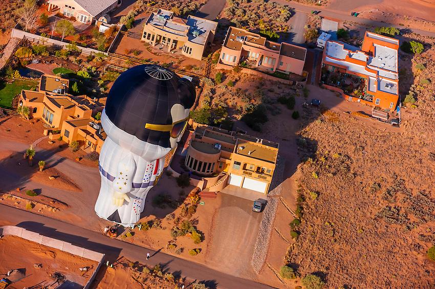 Special shape balloon called Aaron (Elvis' middle name) at the Albuquerque International Balloon Fiesta, Albuquerque, New Mexico USA