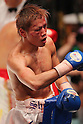 Shuhei Tsuchiya, AUGUST 10, 2011 - Boxing : Shuhei Tsuchiya celebrates after the fight during the light weight bout at Korakuen Hall, Tokyo, Japan. Shuhei Tsuchiya won by TKO after the fight was stopped in the ninth round. (Photo by Yusuke Nakanishi/AFLO) [1090]