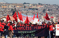 The Landless People's Movement march during the World Summit held in Johannesburg. The march started in the poor township of Alexandra and ended in Sandton, the richest square mile in Africa.