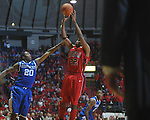 Ole Miss guard Zach Graham (32)  shoots over Kentucky's Doron Lamb (20) at the C.M. &quot;Tad&quot; Smith Coliseum in Oxford, Miss. on Tuesday, February 1, 2011. Ole Miss won 71-69.