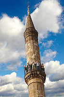 The Kethuda minaret, with a cross and the Turkish moon on top  , Eger, Hungary