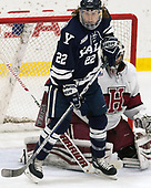 JM Piotrowski (Yale - 22) - The Harvard University Crimson tied the visiting Yale University Bulldogs 1-1 on Saturday, January 21, 2017, at the Bright-Landry Hockey Center in Boston, Massachusetts.