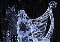 Feast of Plenty ice sculpture by Steve Brice, World Ice Sculpting competition, Fairbanks, Alaska.