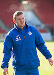St Johnstone Training&hellip;.17.02.17<br />Brain Easton pictured during training this morning at McDiarmid Park ahead of tomorrow&rsquo;s trip to Dingwall<br />Picture by Graeme Hart.<br />Copyright Perthshire Picture Agency<br />Tel: 01738 623350  Mobile: 07990 594431