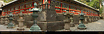 Tozai Kairo Roofed Colonnade Exterior Oblique Nature Sculpture Panels Tanyu School Mitsuda-e Composite Image Honsha Central Shrine Nikko Toshogu Shrine Nikko Japan