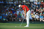Robert Karlsson putts on the 18th hole at the PGA FedEx St. Jude Classic at TPC Southwind in Memphis, Tenn. on Sunday, June 12, 2011. Harrison Frazar won the tournament on the third playoff hole against Robert Karlsson. The victory was Frazar's first ever on the PGA tour.