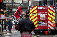 "16.10.2013 - FBU Demo on Pensions and Cuts: ""Save Our Fire Service"""