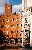 Piazza del Campo, in the historic centre of Siena, Tuscany, Italy