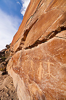 Petroglyph panel in a remote canyon in the Bighorn Basin of Wyoming