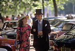 Buckingham Palace Garden party father and unmarried daughter. The English Season published by Pavilon Books 1987