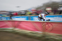 CX World Champion Wout Van Aert (BEL/Crelan-Willems) speeding along on a new bike (&amp; in a new team) for the first time in a race<br /> <br /> elite men's race<br /> GP Sven Nys 2017