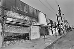A row of businesses that where burned and looted on S.Vermont Ave in South Central Los Angeles.