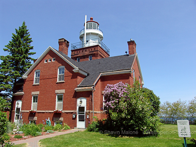 Big Bay Lighthouse springtime lighthouses in the Upper Peninsula of Michigan