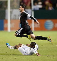 CARSON, CA – SEPTEMBER 10: Santino Quaranta (25) during a soccer match at Home Depot Center, September 18, 2010 in Carson California. Final score LA Galaxy 2, DC United 1.
