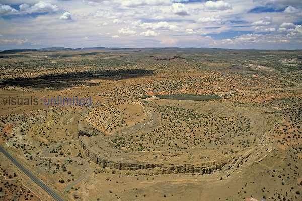 Coliseum Maar, Hopi Buttes, AZ.  Maars are low-relief broad craters.