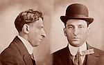 "1915 mug shot from New Jersey 31 year old ""larceny from person"" suspect"