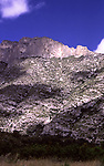 McKittrick Ridge in the Guadalupe Mountains National Park, June 1988. This ridge forms the popular McKittrick Canyon and is home to numerous historic sites of the Mescalero Apaches. The ridge also forms the Texas-New Mexico border and is very near to Carlsbad Caverns National Park.