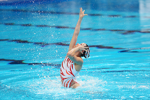 Yukiko Inui (JPN), JULY 31, 2015 - Synchronised Swimming : 16th FINA World Championships Kazan 2015 Solo Free Routine Final at Kazan Arena in Kazan, Russia. (Photo by Yohei Osada/AFLO SPORT)