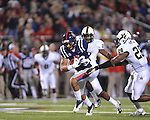 Ole Miss wide receiver Donte Moncrief (12) vs. Vanderbilt safety Karl Butler (28) at Vaught-Hemingway Stadium in Oxford, Miss. on Saturday, November 10, 2012. (AP Photo/Oxford Eagle, Bruce Newman)