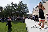 Venice, Italy - 15th Architecture Biennale 2016, &quot;Reporting from the Front&quot;.<br /> Austrian Pavilion. Opening of &quot;Places for People&quot;.<br /> Comissioner Elke Delugan-Meissl.