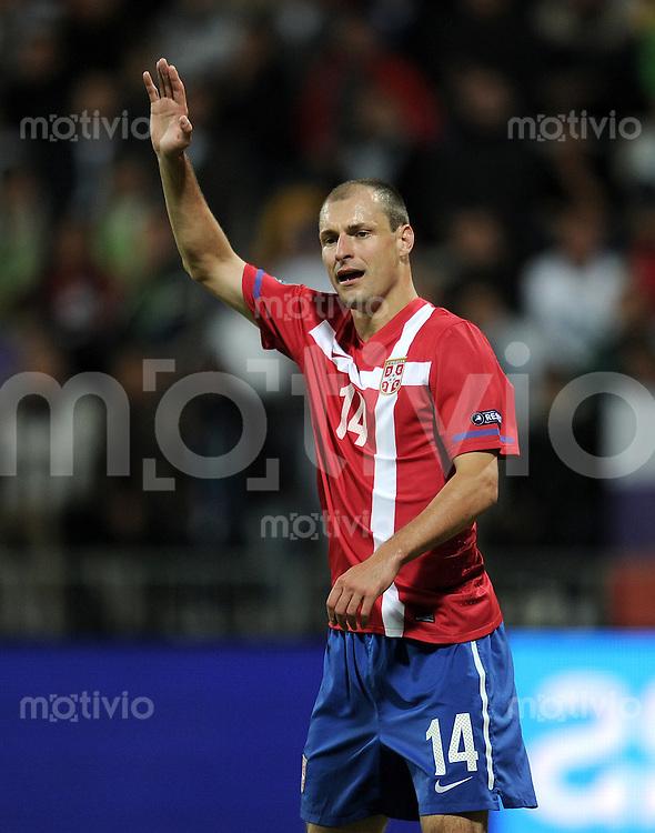 FUSSBALL INTERNATIONAL  Qualifikation Euro 2012  11.10.2011 Slowenien - Serbien Milan JOVANOVIC (Serbien)