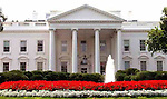 "Washington---The White House, seen from Pennsylvania Avenue looking south. Credit: Marty Katz/Pictureserver.com..Copyright 2010 by Marty Katz. All rights reserved. Call  for clearance prior to use. Required adjacent credit: ""DC Photographer Marty Katz"" linked to http://washingtonphotographer.com"