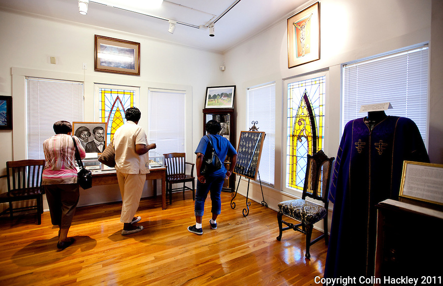 THE CHURCH EXPERIENCE: The Upper Room collection recognizes the role of the church in African-American culture at The Black Archives in Tallahassee..COLIN HACKLEY PHOTO