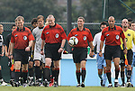 31 August 2008: Match officials. From left): Assistant Referee Jude Carr, Alternate Official Kevin Bowers, Referee Mark Kadlecik, Assistant Referee Saeed Mohammed. The University of North Carolina Tar Heels defeated the Virginia Commonwealth University Rams 1-0 in overtime at Fetzer Field in Chapel Hill, North Carolina in an NCAA Division I Men's college soccer game.