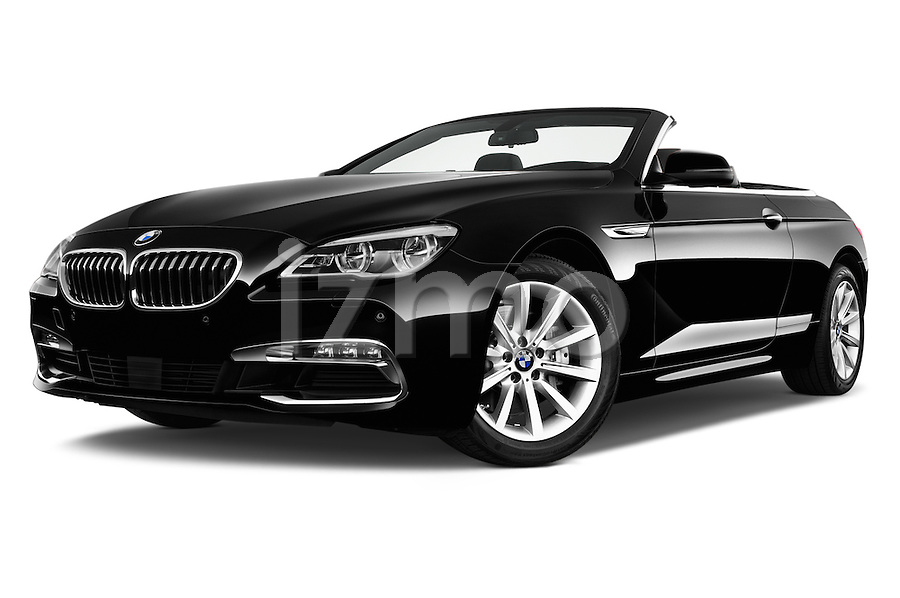 Low Aggressive Front Three Quarter View Of 2016 BMW 6 Series 640i Black Accent