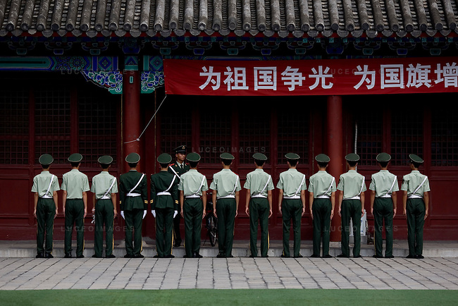 Military police officers in the Forbidden City in Beijing, China on Tuesday, August 12, 2008.  Kevin German