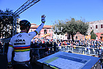 World Champion Peter Sagan (SVK) Bora-Hansgrohe at sign on before the start of Stage 4 of the 2017 Tirreno Adriatico running 187km from Montalto di Castro to Terminillo, Italy. 11th March 2017.<br /> Picture: La Presse/Gian Mattia D'Alberto | Cyclefile<br /> <br /> <br /> All photos usage must carry mandatory copyright credit (&copy; Cyclefile | La Presse)