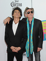 NEW YORK, NY - NOVEMBER 15:  Ronnie Wood and Keith Richards attend The Rolling Stones Exhibitionism opening night at Industria Superstudio on November 15, 2016 in New York City. Photo by John Palmer MediaPunch
