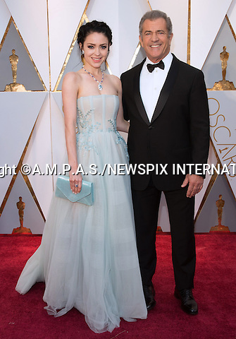 26.02.2017; Hollywood, USA: MEL GIBSON and ROSALIND ROSS<br /> attends The 89th Annual Academy Awards at the Dolby&reg; Theatre in Hollywood.<br /> Mandatory Photo Credit: &copy;AMPAS/NEWSPIX INTERNATIONAL<br /> <br /> IMMEDIATE CONFIRMATION OF USAGE REQUIRED:<br /> Newspix International, 31 Chinnery Hill, Bishop's Stortford, ENGLAND CM23 3PS<br /> Tel:+441279 324672  ; Fax: +441279656877<br /> Mobile:  07775681153<br /> e-mail: info@newspixinternational.co.uk<br /> Usage Implies Acceptance of Our Terms &amp; Conditions<br /> Please refer to usage terms. All Fees Payable To Newspix International
