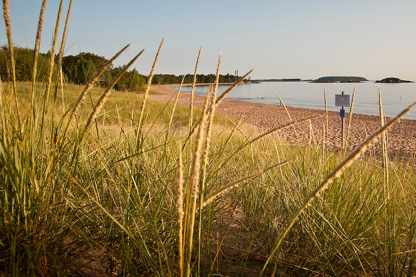 McCarty Cove a popular Lake Superior beach in Marquette, Michigan.