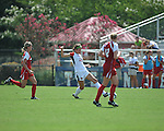 Ole Miss' Emily Sinovich (13) vs. Louisiana-Lafayette in college soccer action at the Ole Miss Soccer Stadium in Oxford, Miss. on Sunday, August 26, 2012. Rafaelle Souza delivered her fourth goal of the season in the 12th minute for Ole Miss (4-0).