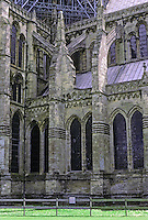 Salisbury: Salisbury Cathedral--Nave and North Transept. Photo '90.