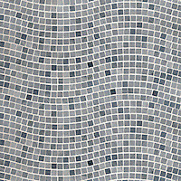 River Run, a hand-cut stone mosaic, shown in 2 cm polished Bardiglio.