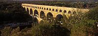 Europe/France/Languedoc-Roussillon/30/Gard : Le pont du Gard (patrimoine Mondial de l'UNESCO)