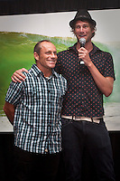 TOM CARROLL (AUS) with Surfing World editor ADAM BLAKEY (AUS) at the Australian Surfing Awards incorporating The Hall Of Fame, Tuesday March 3rd 2009  held at Twin Towns, Coolangatta, Queensland, Australia ,   Photo: joliphotos.com