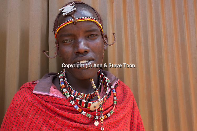 Maasai man at the Predator Compensation Fund Pay Day, Mbirikani Group Ranch, Amboseli-Tsavo eco-system, Kenya, Africa, October 2012