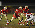 Lafayette High's Eli Johnson (75) vs. Shannon in Oxford, Miss. on Friday, September 14, 2012. Lafayette won 44-25 over Shannon to improve to 4-1.