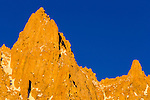 Spires on the Sierra crest near Mount Whitney, John Muir Wilderness, California USA