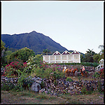 "The ""Manor House Villa"" at The Hermitage Plantation Inn, Nevis.  Mt. Nevis is in the background"